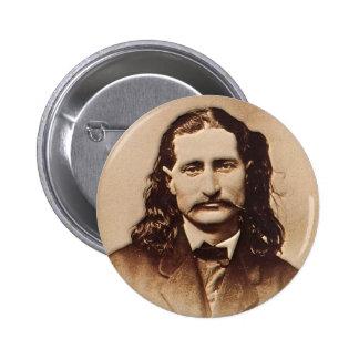 Wild Bill Hickok que pinta el retrato Pin Redondo De 2 Pulgadas
