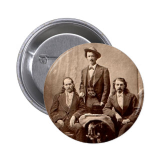 Wild Bill Hickok - Tejas Jack - Buffalo Bill Pin Redondo 5 Cm