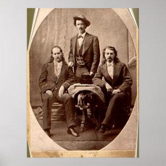 Wild Bill Hickok - Tejas Jack - Buffalo Bill Póster