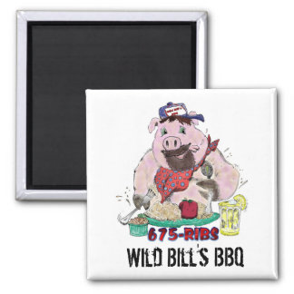 WILD BILL'S BBQ FRIDGE MAGNETS