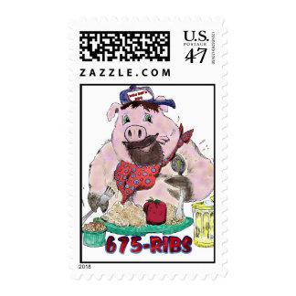 WILD BILL's BBQ Postage Stamp