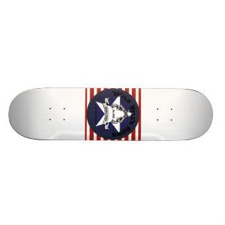 Wild Bill's Guns White Board Star and Stripes Skateboard Deck