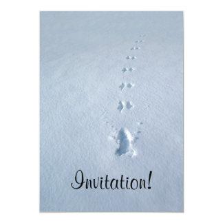 Wild Bird Footprints in Snow 5x7 Paper Invitation Card