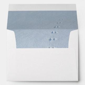 Wild Bird Footprints in Snow Envelopes