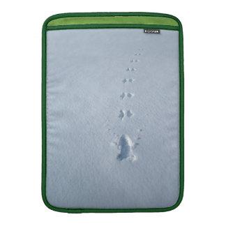 Wild Bird Footprints in Snow MacBook Air Sleeves