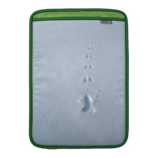 Wild Bird Footprints in Snow MacBook Air Sleeve