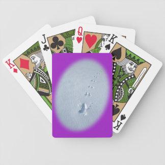 Wild Bird Footprints in Snow Card Decks