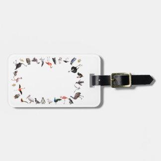 Wild bird luggage tag