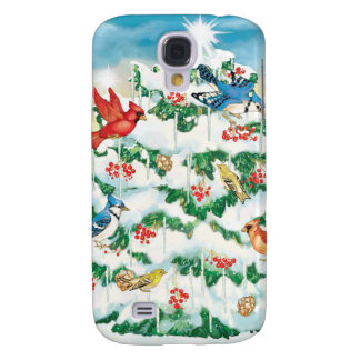 Wild Birds in Nature with Starlit Christmas Tree Galaxy S4 Covers