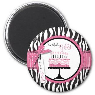 Wild Birthday Cake Magnet Pink 2