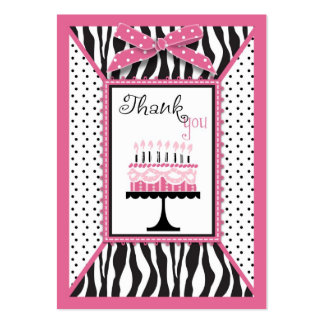 Wild Birthday Cake TY Notecard Pink 2 Large Business Card