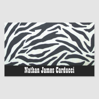 Wild Black and White Zebra Stripe Sticker