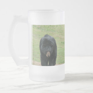 Wild Black Bear Frosted Beer Mugs
