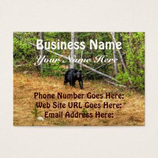 Wild Black Bear & Yukon Forest Photo Art Business Card