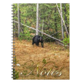 Wild Black Bear & Yukon Forest Photo Art Spiral Notebook