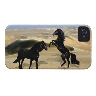 Wild black beauty horses iPhone 4 cover