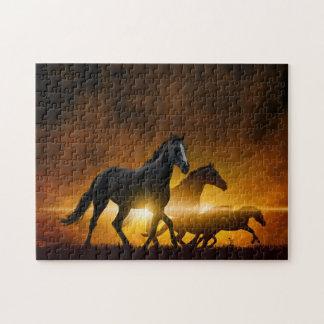 Wild Black Horses Puzzle