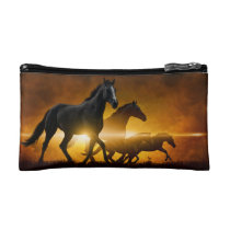 Wild Black Horses Toiletry Bag