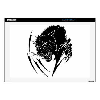 """Wild Black Panther Decals For 17"""" Laptops"""