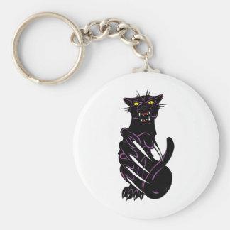 Wild Black Panther Keychain