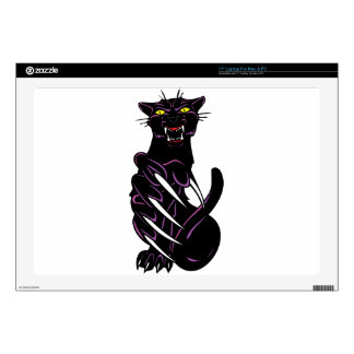 Wild Black Panther Laptop Decals