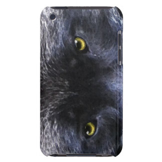 Wild Black Wolf Eyes Wildlife Ipod Case Barely There iPod Cover