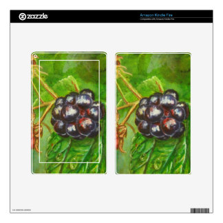Wild Blackberries ripening in Summer Decal For Kindle Fire