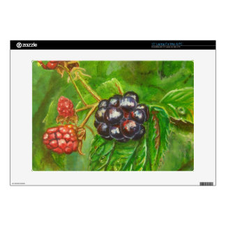 "Wild Blackberries ripening in Summer Decals For 15"" Laptops"