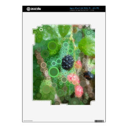 Wild Blackberry Summer Products Skins For iPad 3