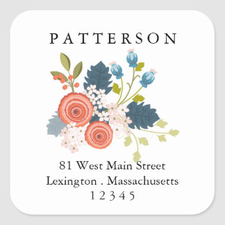 Wild Blooms Floral Garden Return Address Label