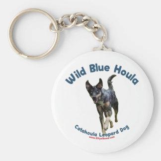 Wild Blue Catahoula Dog Keychain