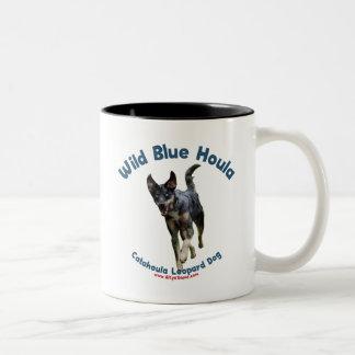 Wild Blue Catahoula Dog Two-Tone Coffee Mug