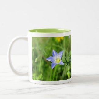Wild Blue Flax Flower Two-Tone Coffee Mug