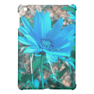 Wild Blue Sunflower iPad Case