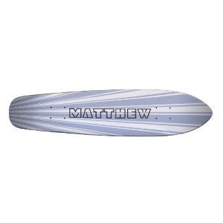 Wild blue yonder Color Stripe Funky Pattern Skate Board