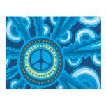 Wild Blue Yonder con el signo de la paz Postal