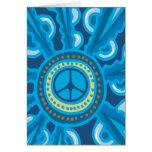 Wild Blue Yonder con el signo de la paz Tarjetón