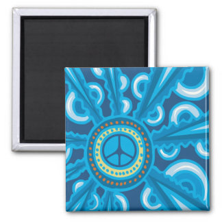 Wild Blue Yonder with Peace Sign Magnet