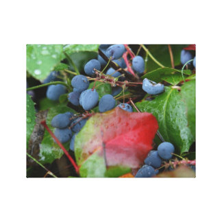 Wild Blueberries Wrapped Canvas