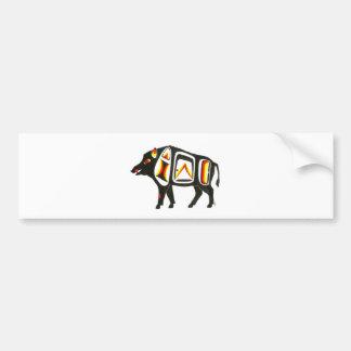 Wild boar 001 bumper sticker