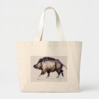 Wild Boar 1999 Large Tote Bag