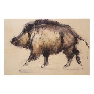 Wild Boar 1999 Wood Wall Art
