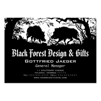 Wild Boar and Deer: German Silhouette / Paper Cut Business Cards