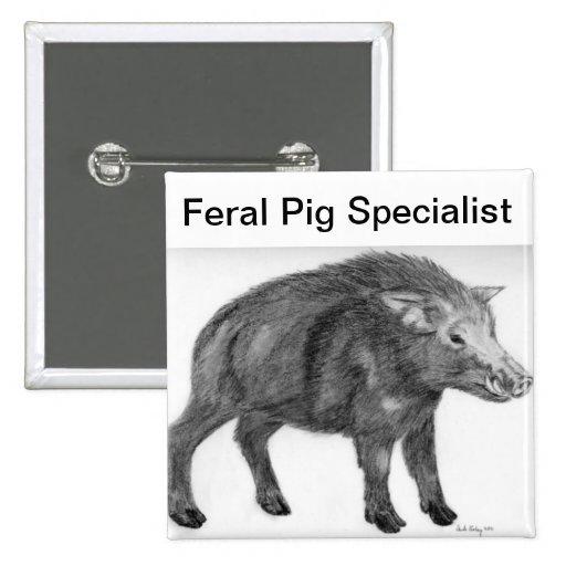 Wild Boar, Defensive Stance 2 Inch Square Button
