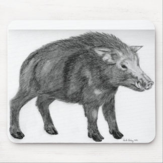 Wild Boar, Defensive Stance Mouse Pad