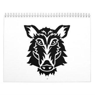 Wild boar head calendar