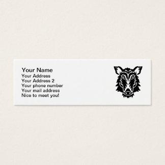 Wild boar head mini business card