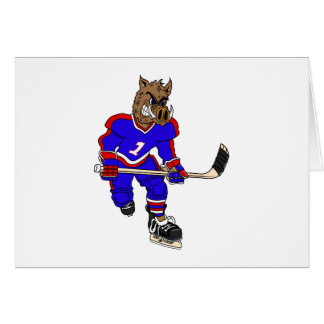 Wild Boar Hockey Player Card