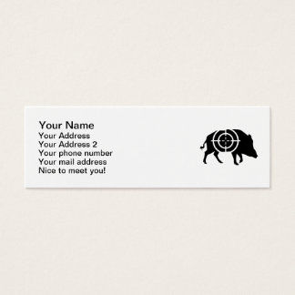 Wild boar hunter crosshairs mini business card