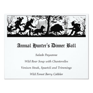 Wild Boar Hunters Dinner Menu Card